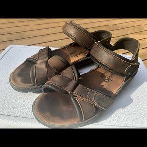 Clarks Air Trek Men's Brown Leather Sport Sandals